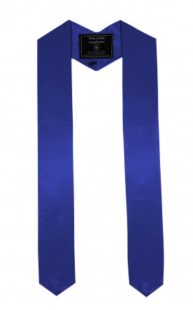 ROYAL BLUE BACHELOR GRADUATION HONOR STOLE