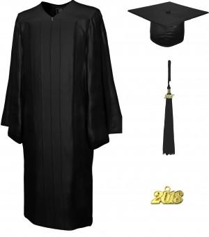 College Fashion Graduation Cap Gown Tassel Year Charm, Set Shiny
