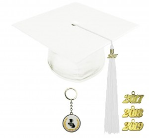 SHINY WHITE GRADUATION CAP ELEMENTARY SCHOOL