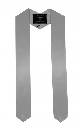 SILVER BACHELOR GRADUATION HONOR STOLE