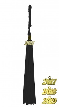 BLACK HIGH SCHOOL GRADUATION TASSEL