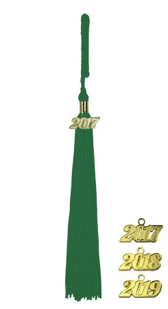 EMERALD GREEN MIDDLE SCHOOL JUNIOR HIGH GRADUATION TASSEL