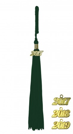 FOREST GREEN BACHELOR GRADUATION TASSEL