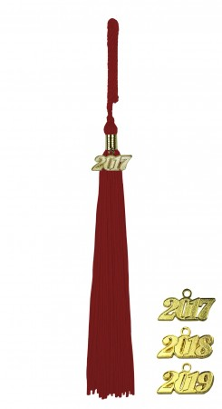 MAROON RED MIDDLE SCHOOL JUNIOR HIGH GRADUATION TASSEL