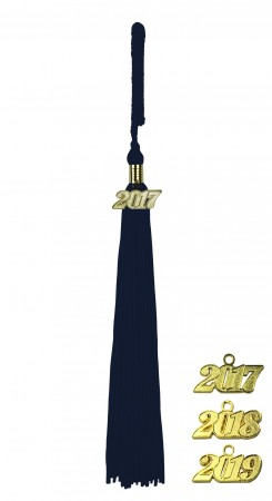 NAVY BLUE MIDDLE SCHOOL JUNIOR HIGH GRADUATION TASSEL