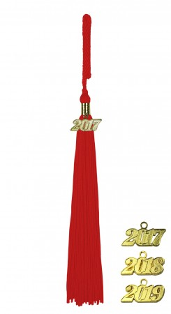 RED MIDDLE SCHOOL JUNIOR HIGH GRADUATION TASSEL
