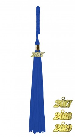 ROYAL BLUE HIGH SCHOOL GRADUATION TASSEL