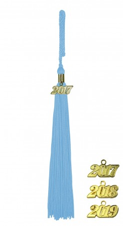 SKY BLUE MIDDLE SCHOOL JUNIOR HIGH GRADUATION TASSEL