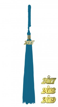 TURQUOISE MIDDLE SCHOOL JUNIOR HIGH GRADUATION TASSEL