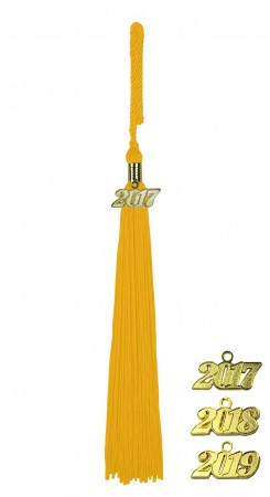 YELLOW GOLD MIDDLE SCHOOL JUNIOR HIGH GRADUATION TASSEL