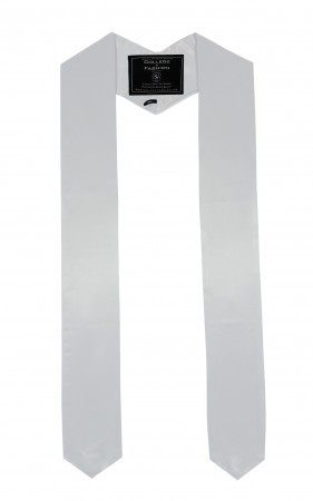WHITE BACHELOR GRADUATION HONOR STOLE