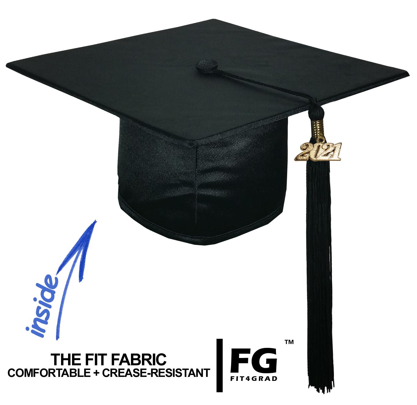 College Fashion Graduation Cap Gown Tassel Year Charm, Set Shiny ...