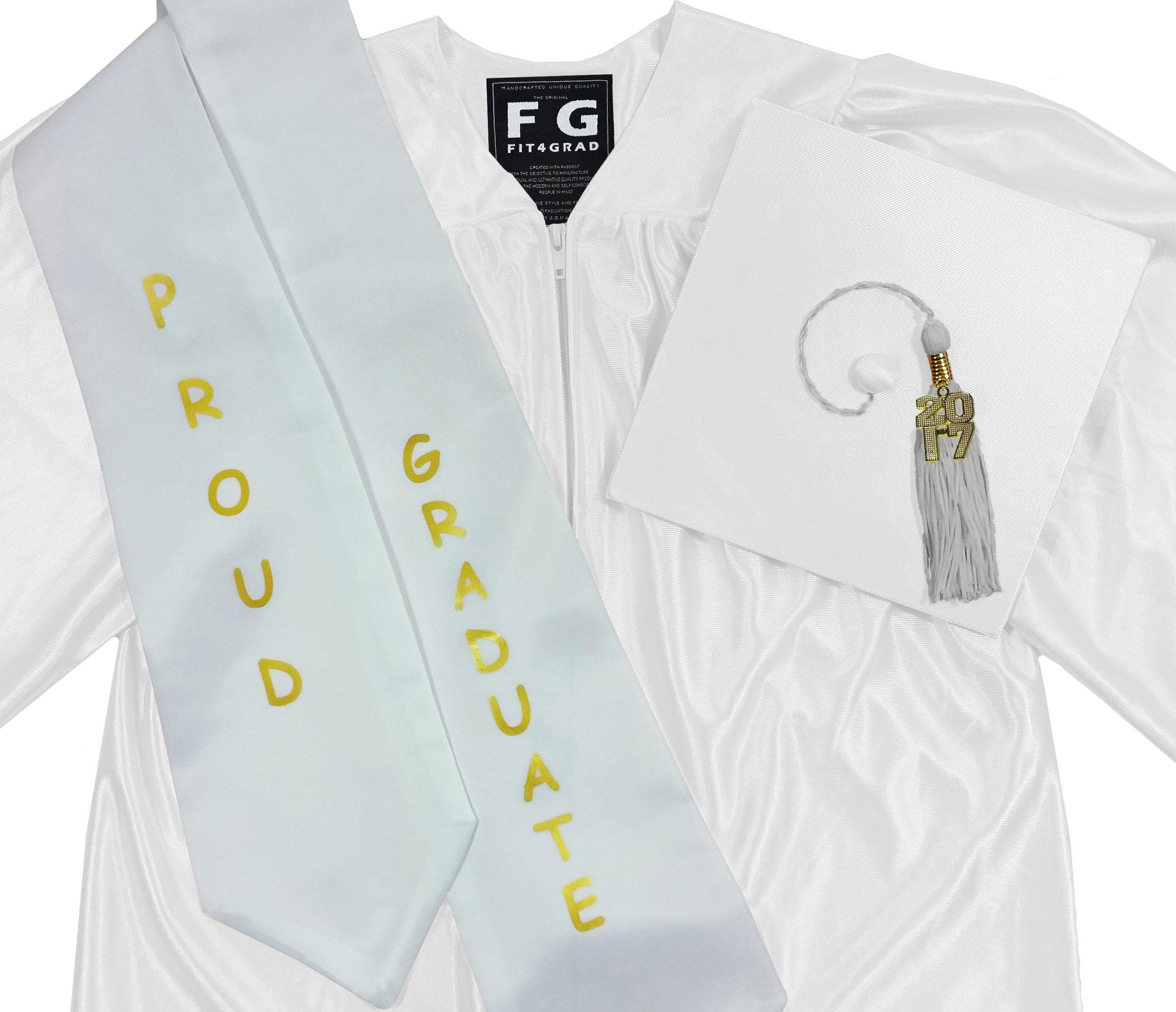 FIT4GRAD Shiny Kindergarten Cap Gown Tassel Bling Signet Stole ...