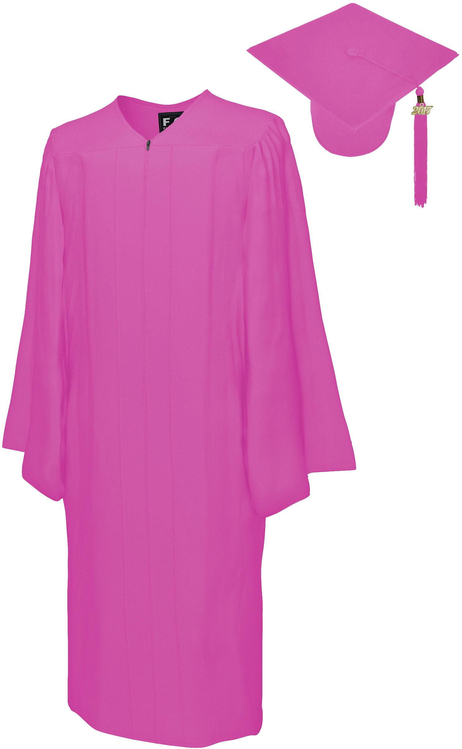 MATTE PINK CAP & GOWN BACHELOR GRADUATION SET-rs4251465601387
