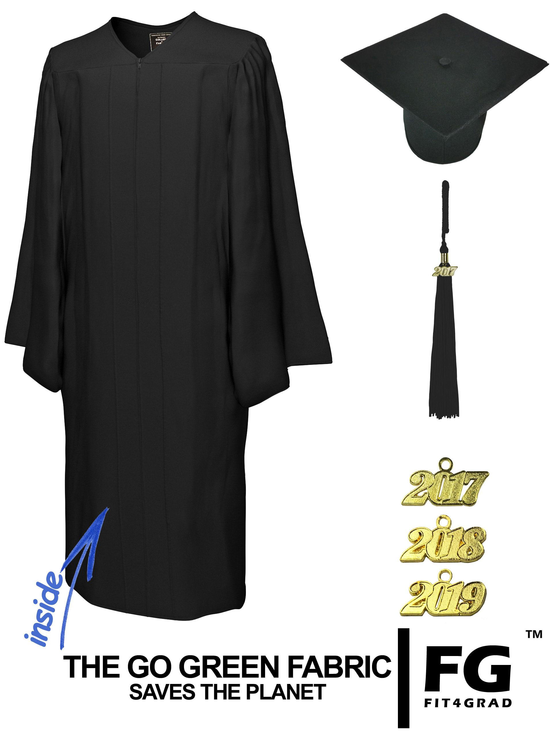 GO GREEN BLACK CAP & GOWN BACHELOR GRADUATION SET-rs4250582400729