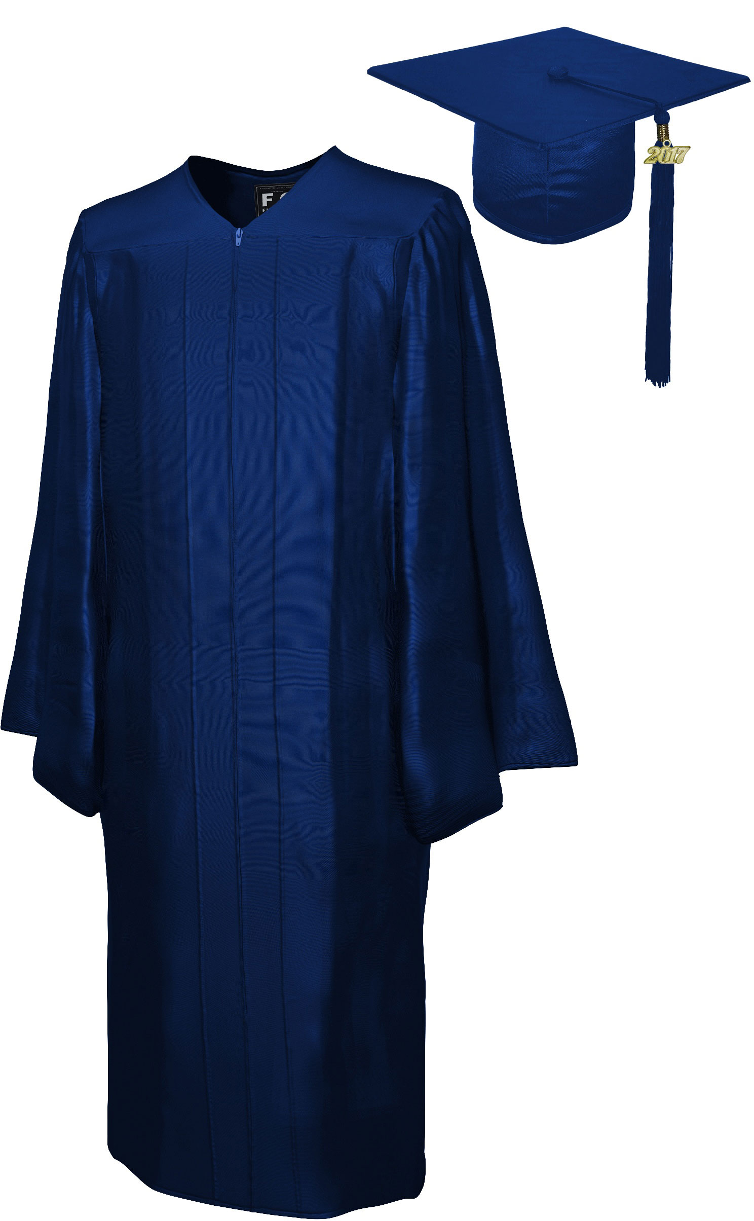 SHINY NAVY BLUE CAP, GOWN, TASSEL, DIPLOMA COVER SET-rs4251465611515