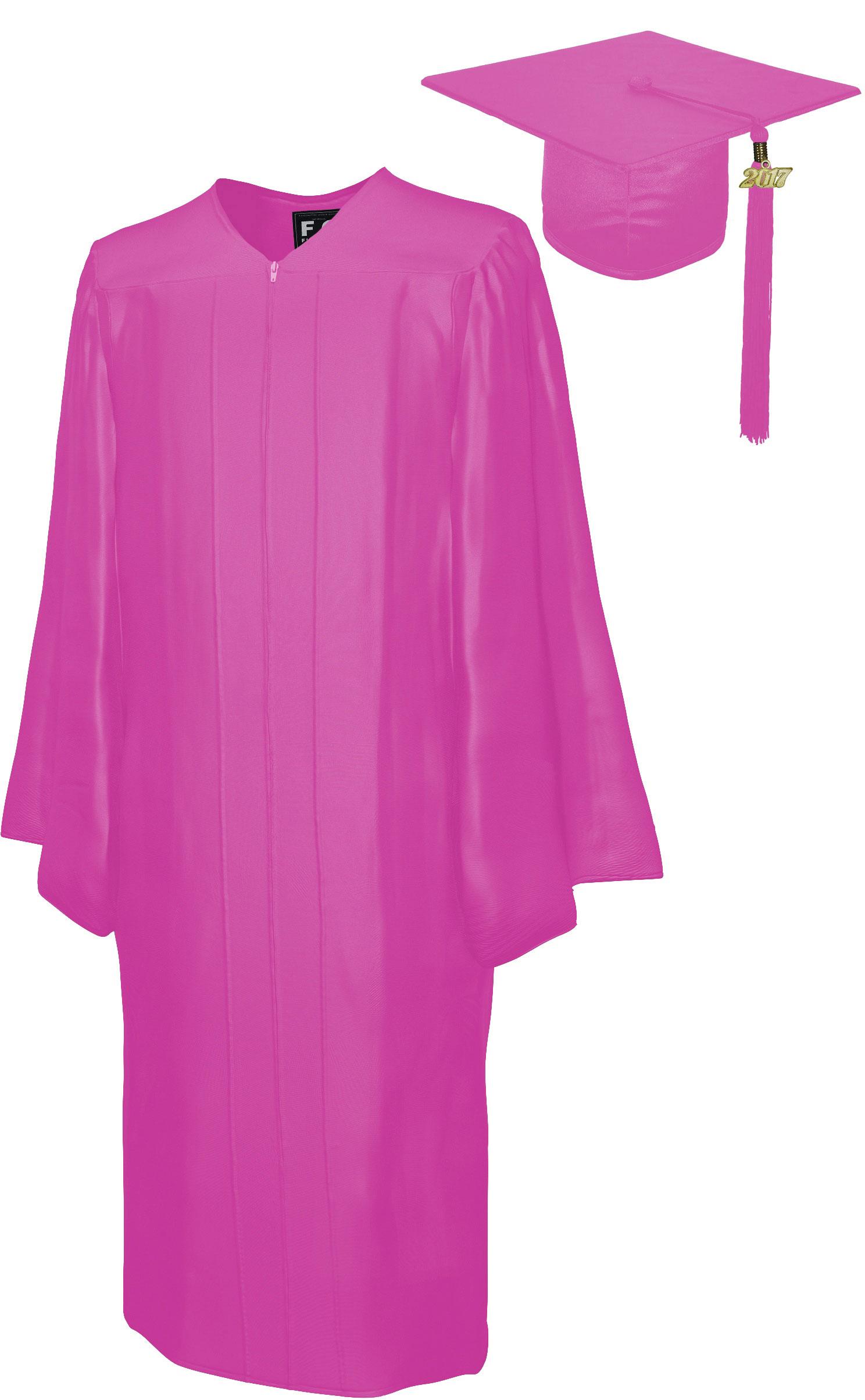 SHINY PINK CAP & GOWN BACHELOR GRADUATION SET-rs4251465601479