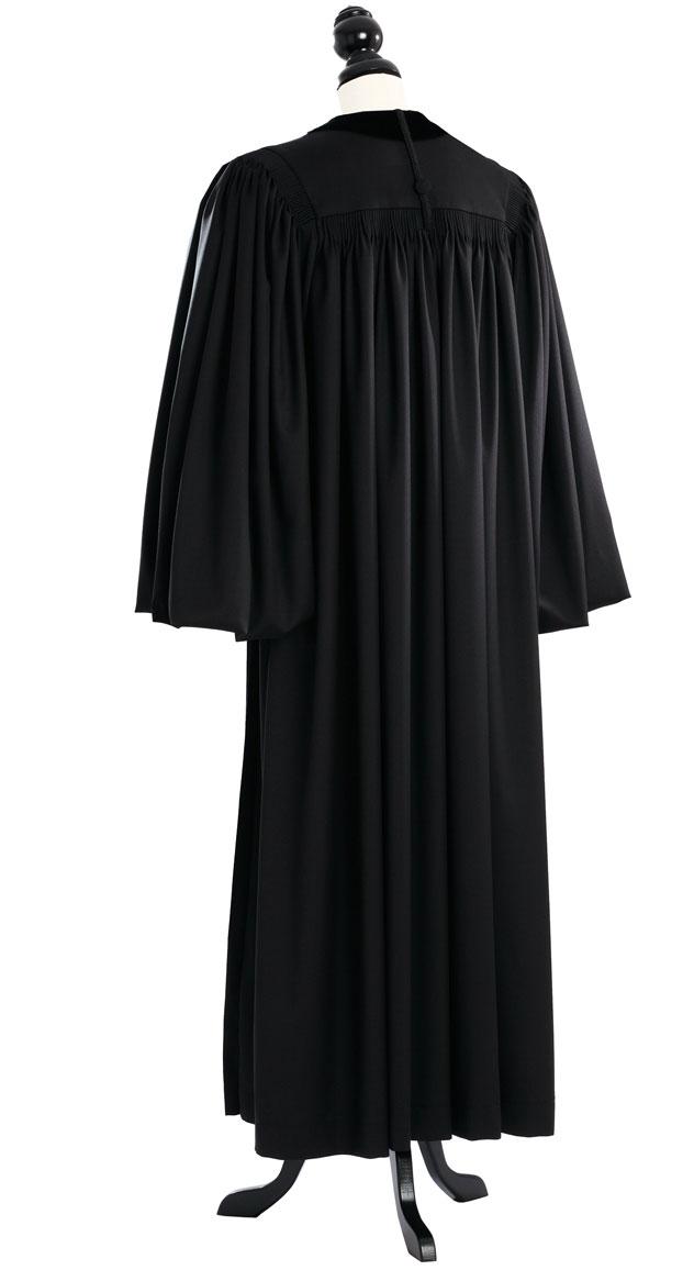 Front Velvet Geneva Clergy Robe