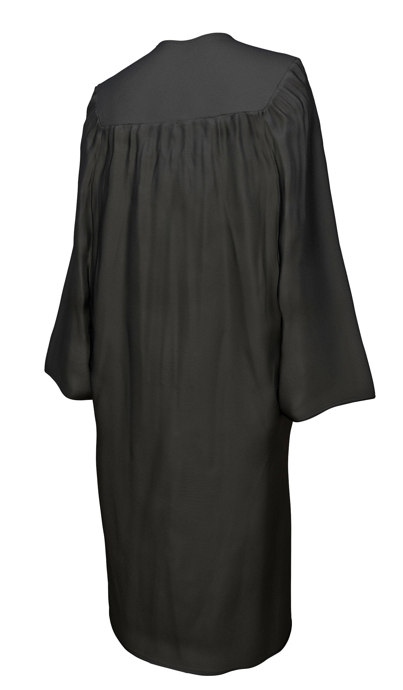 MATTE BLACK HIGH SCHOOL GRADUATION CAP & GOWN SET-rs4251465601882