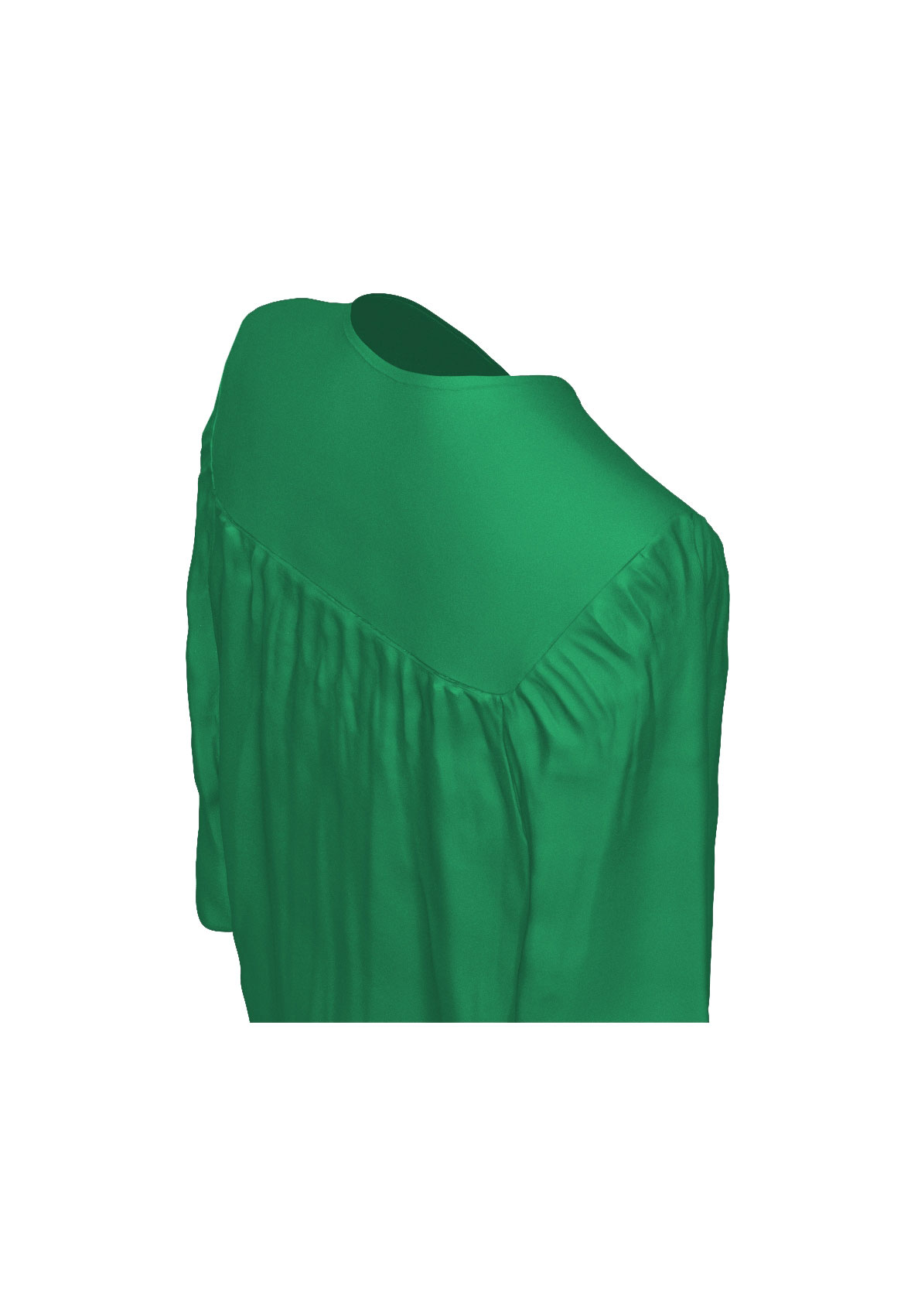 MATTE EMERALD GREEN CAP AND GOWN-rs4251465611331