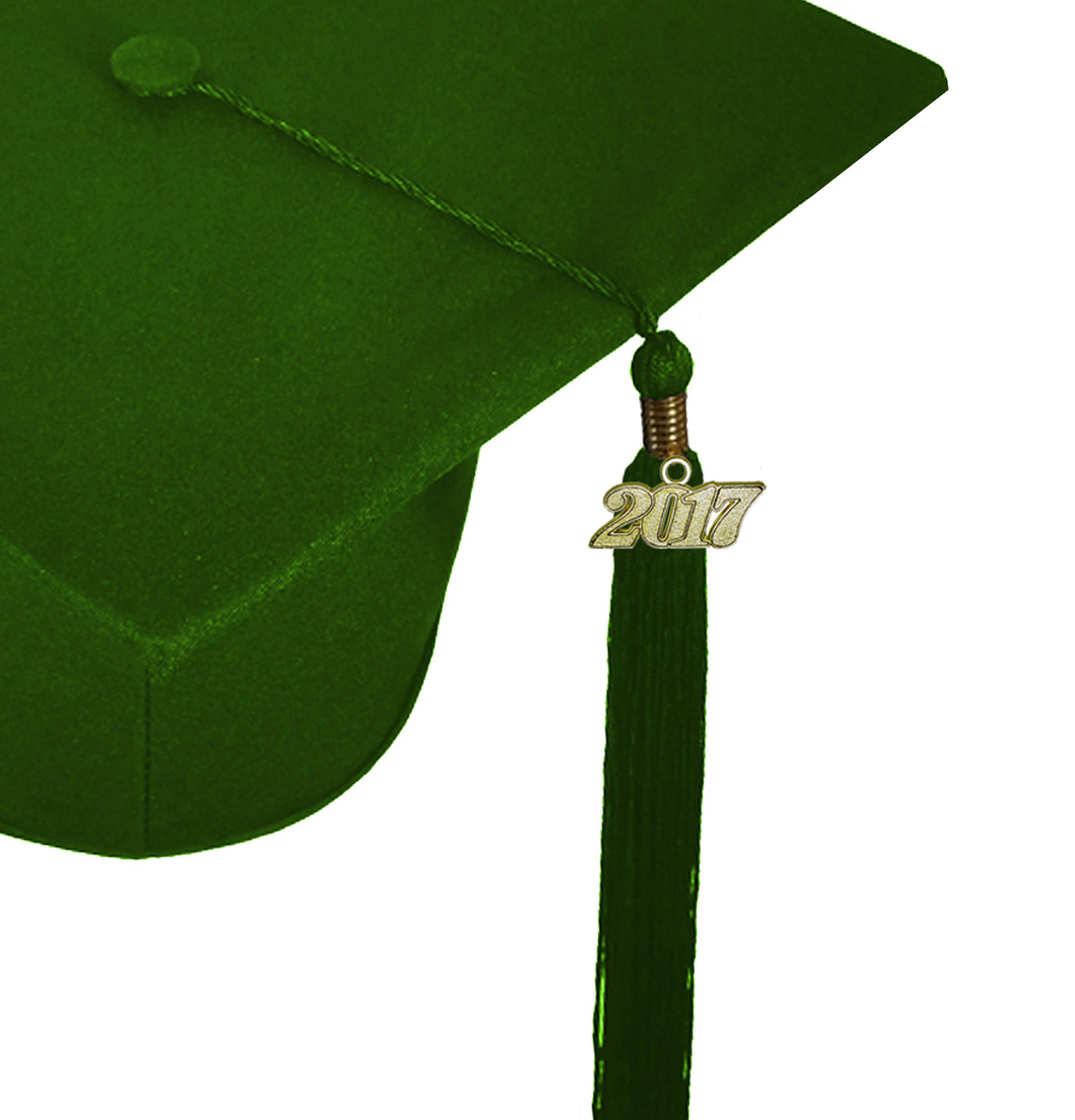 Matte Forest Green Cap Gown Graduation Bear Set Rs4251465613564