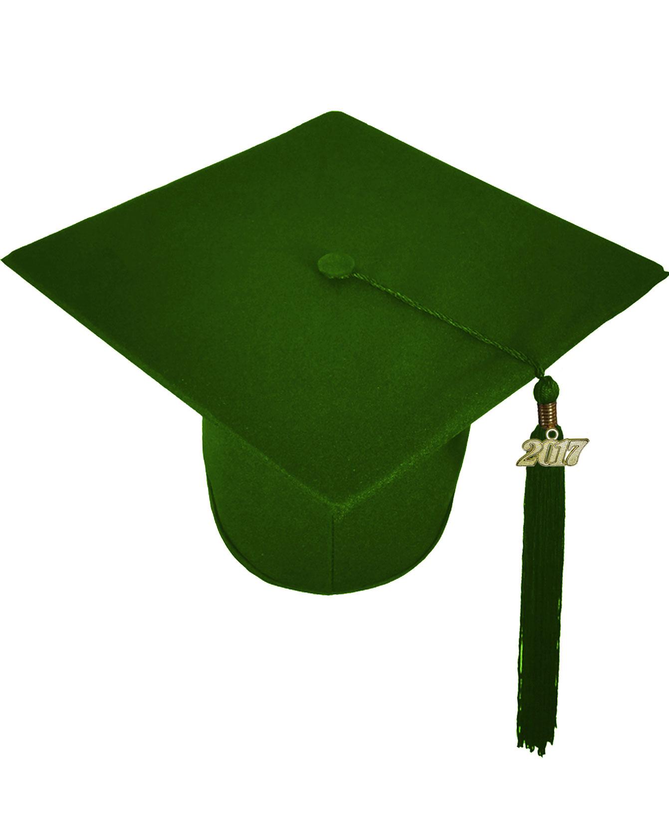Go Green Forest Green Cap Gown Graduation Bear Set Rs4251465614110
