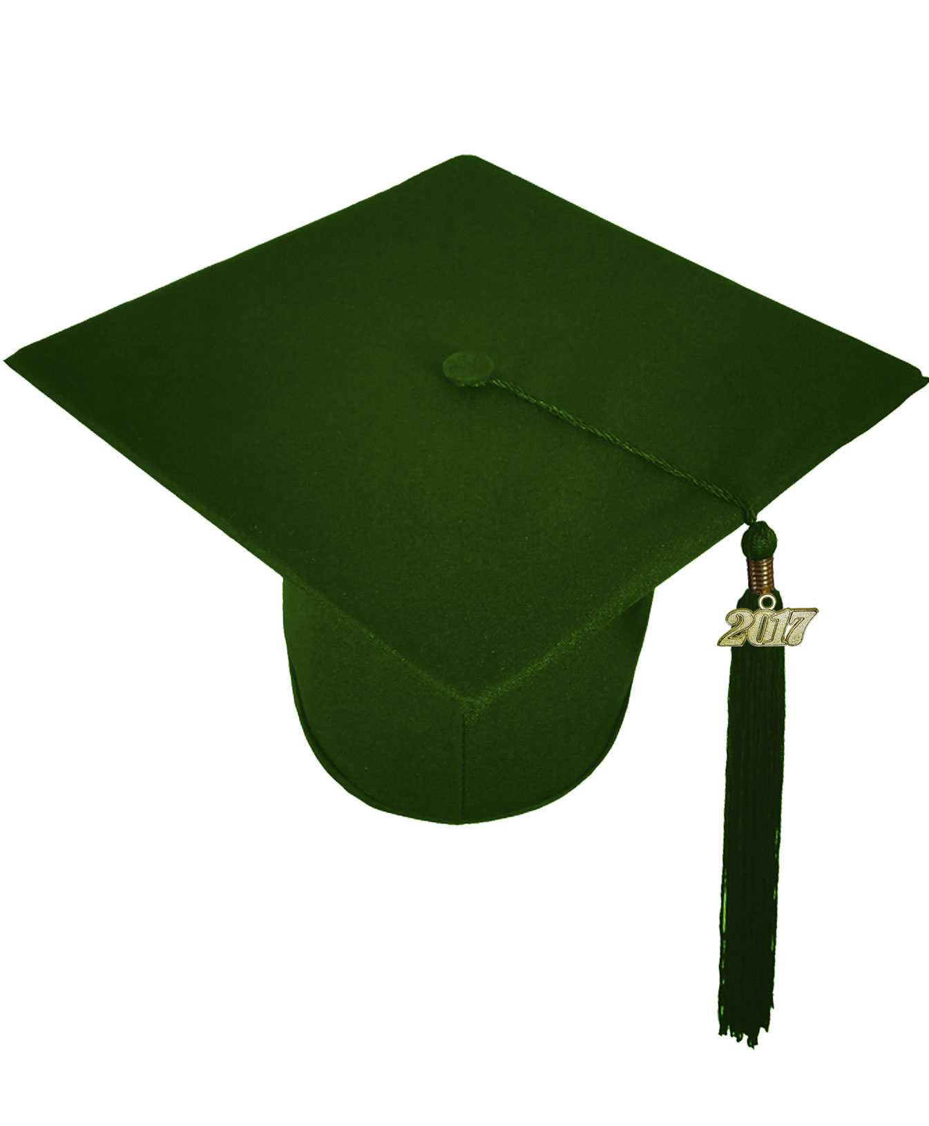 MATTE FOREST GREEN CAP, GOWN, GRADUATION BEAR SET-rs4251465613564