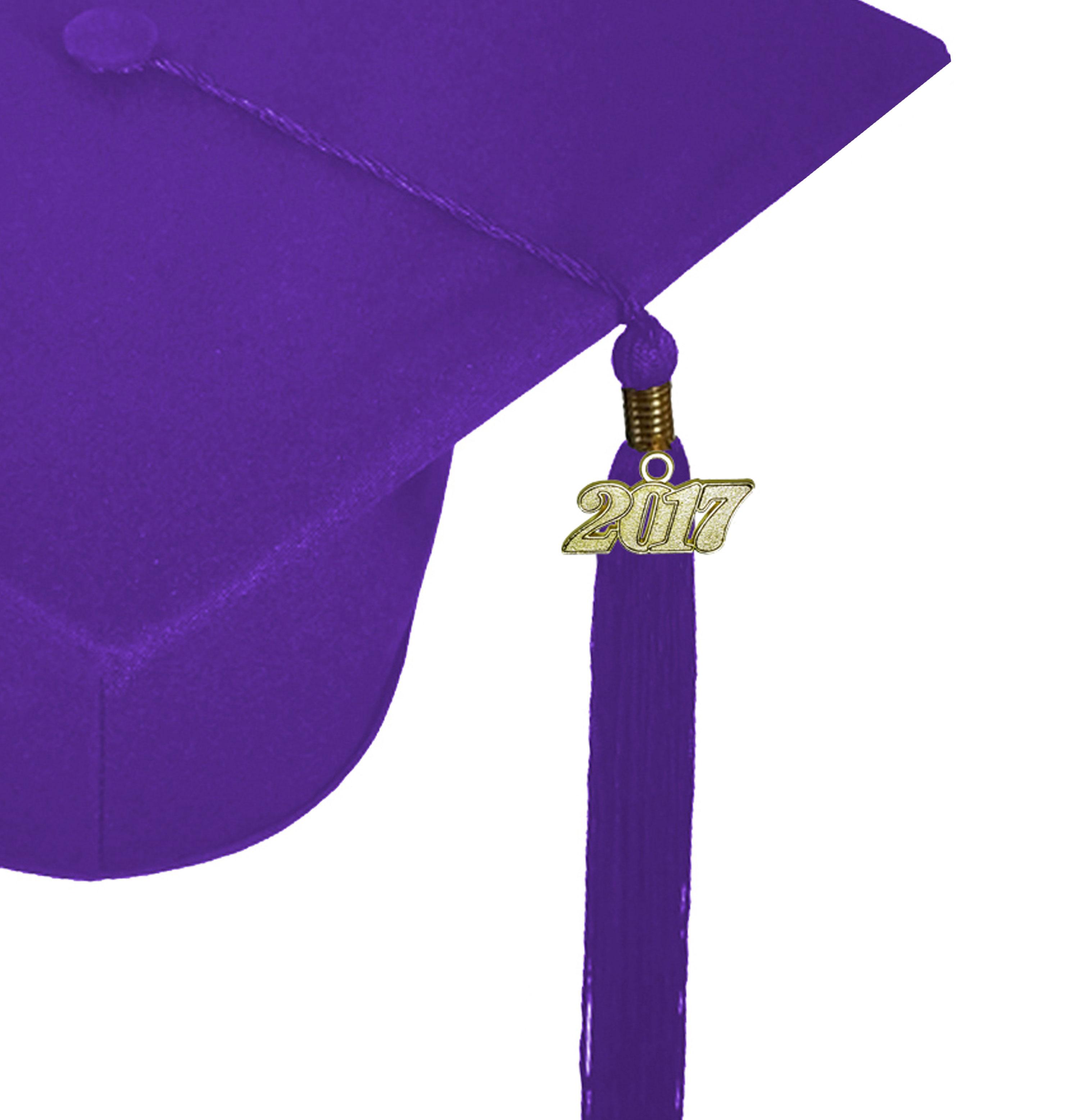 MATTE PURPLE CAP & GOWN MIDDLE SCHOOL JUNIOR HIGH GRADUATION SET ...