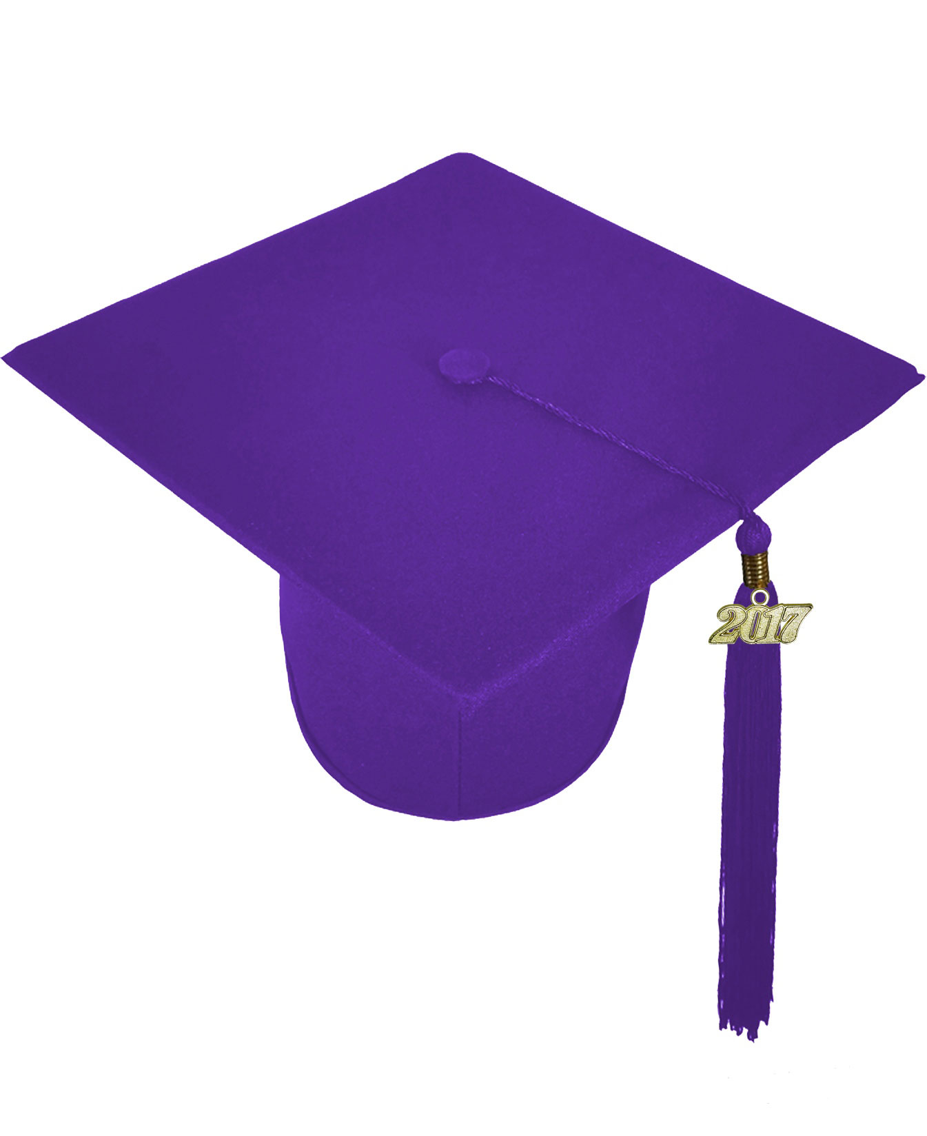 MATTE PURPLE CAP & GOWN HIGH SCHOOL GRADUATION SET-rs4251465601707