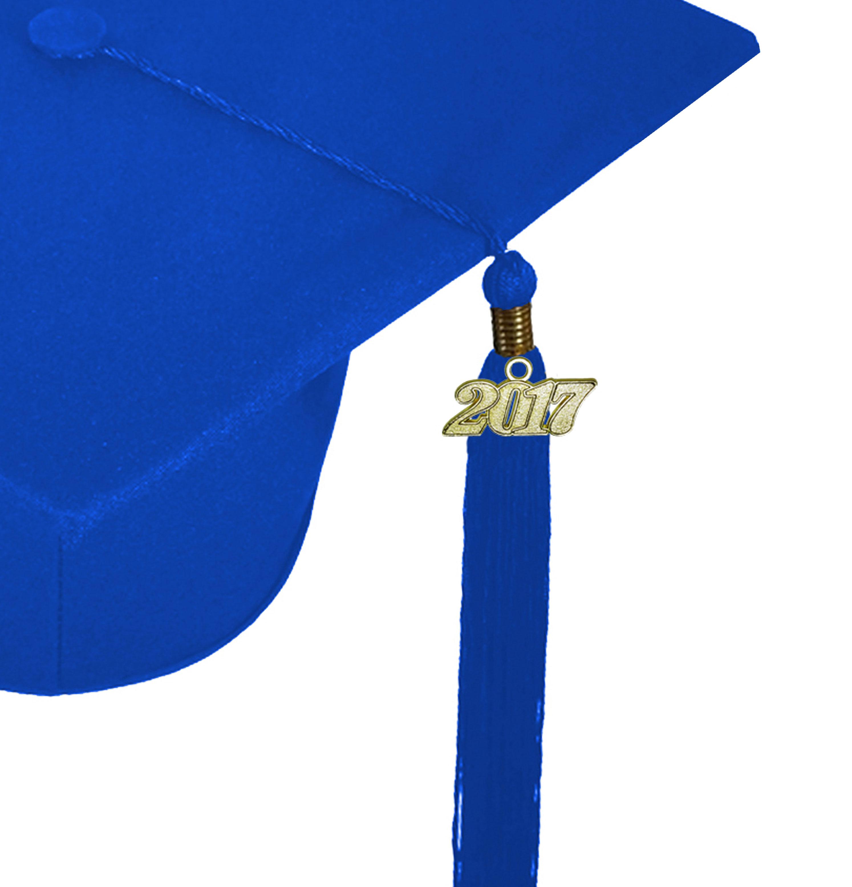 MATTE ROYAL BLUE CAP & GOWN BACHELOR GRADUATION SET-rs4251465601165