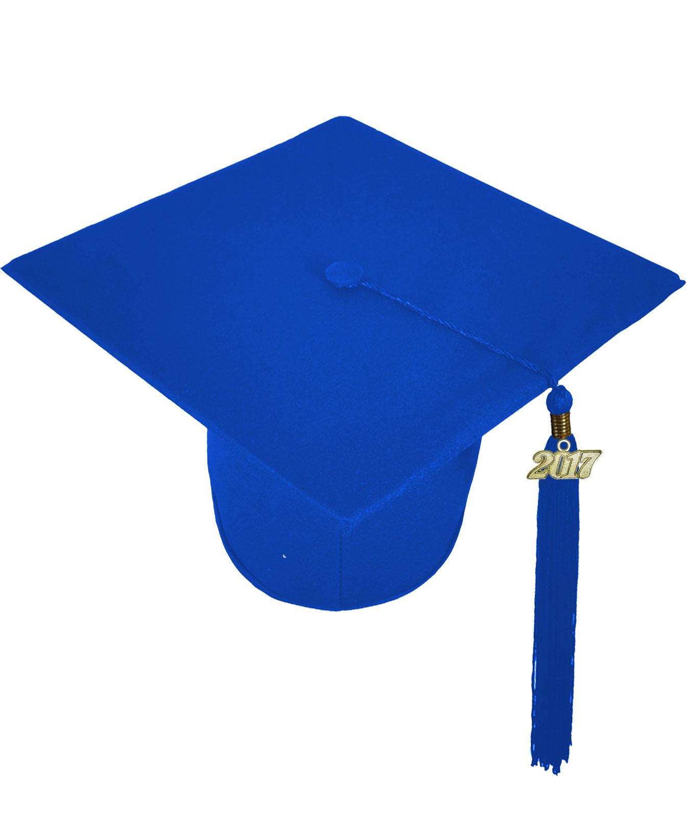 MATTE ROYAL BLUE CAP & GOWN MIDDLE SCHOOL JUNIOR HIGH GRADUATION SET ...