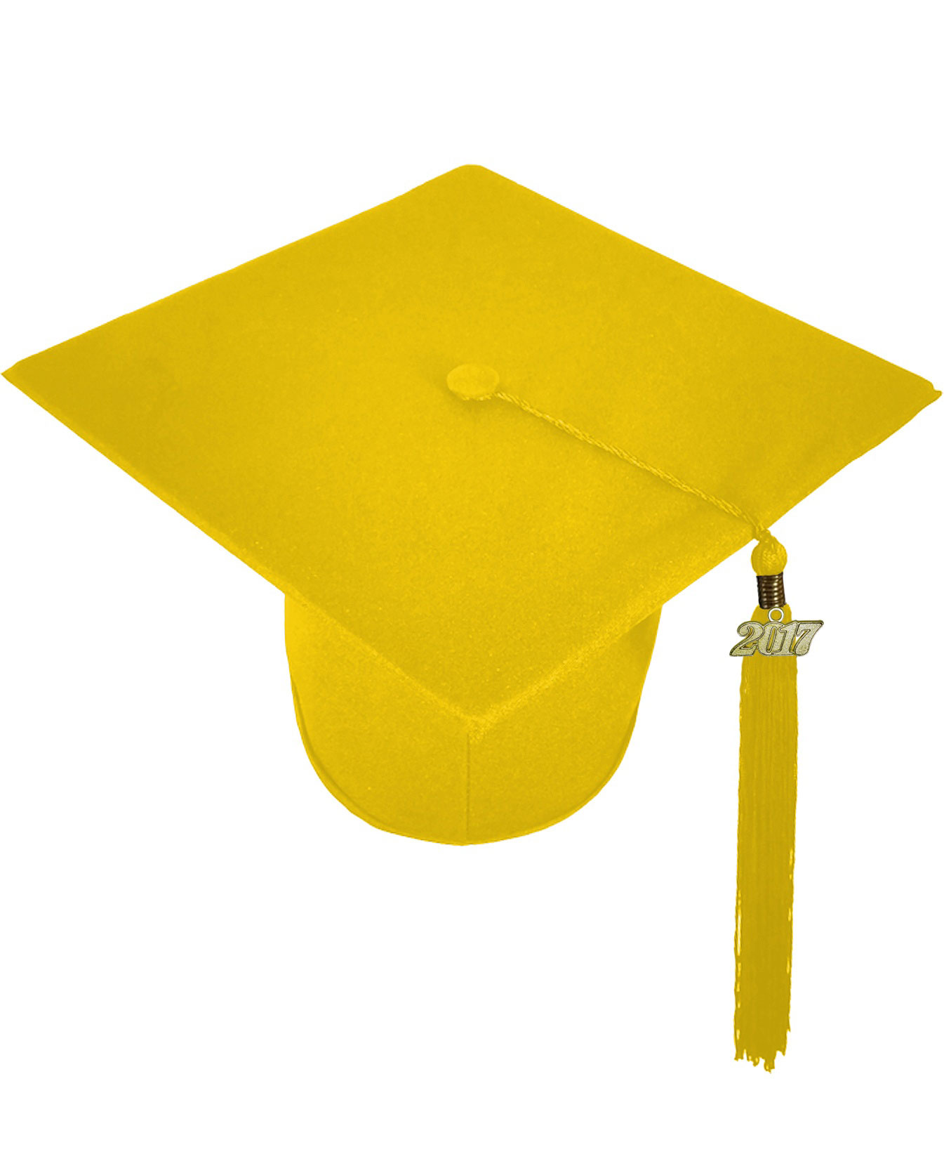 Matte Yellow Gold Cap Gown Middle School Junior High Graduation