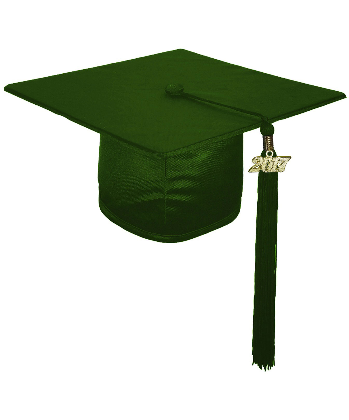 SHINY FOREST GREEN CAP AND GOWN-rs4251465611119