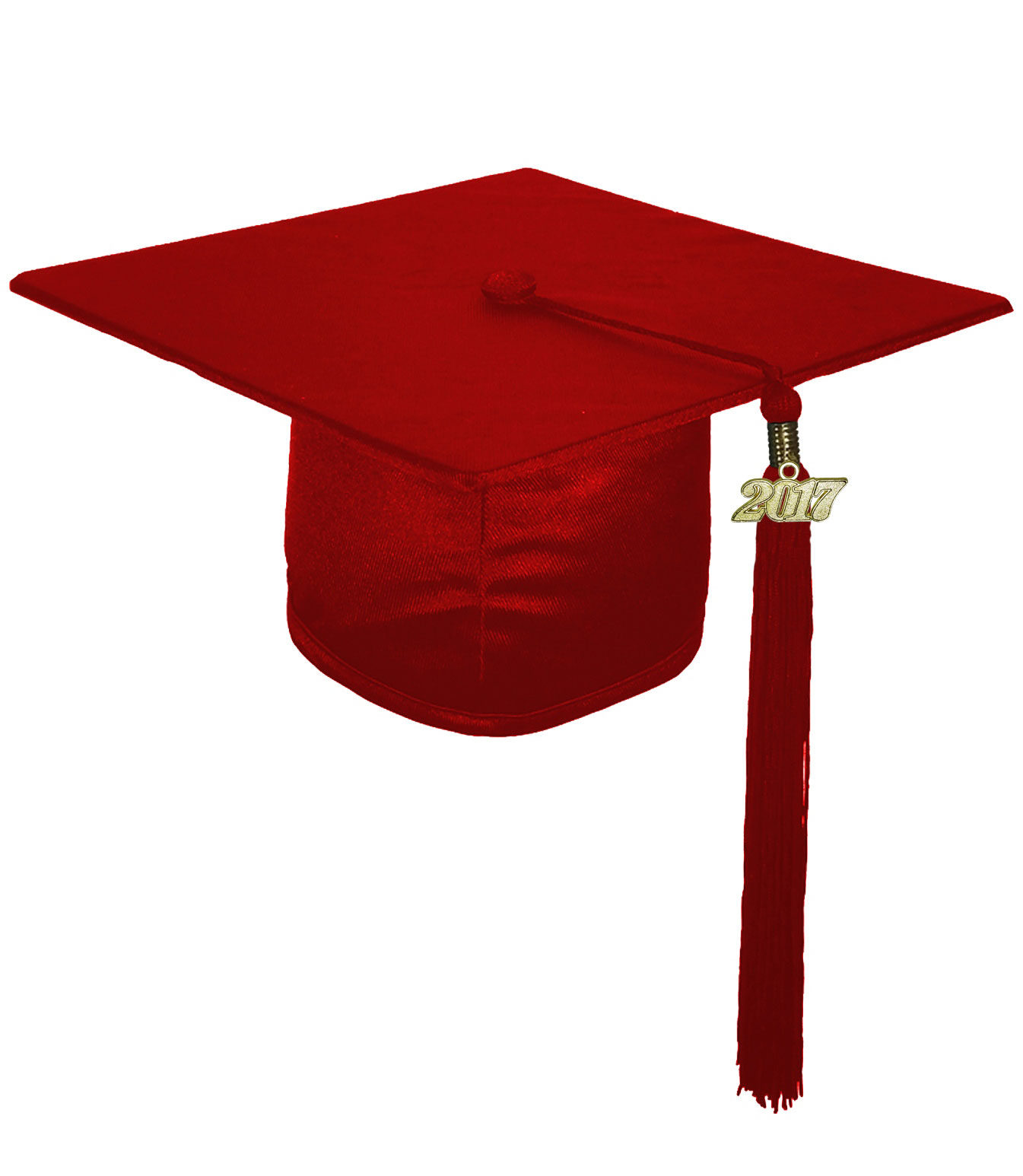 SHINY MAROON RED CAP & GOWN MIDDLE SCHOOL JUNIOR HIGH GRADUATION SET ...