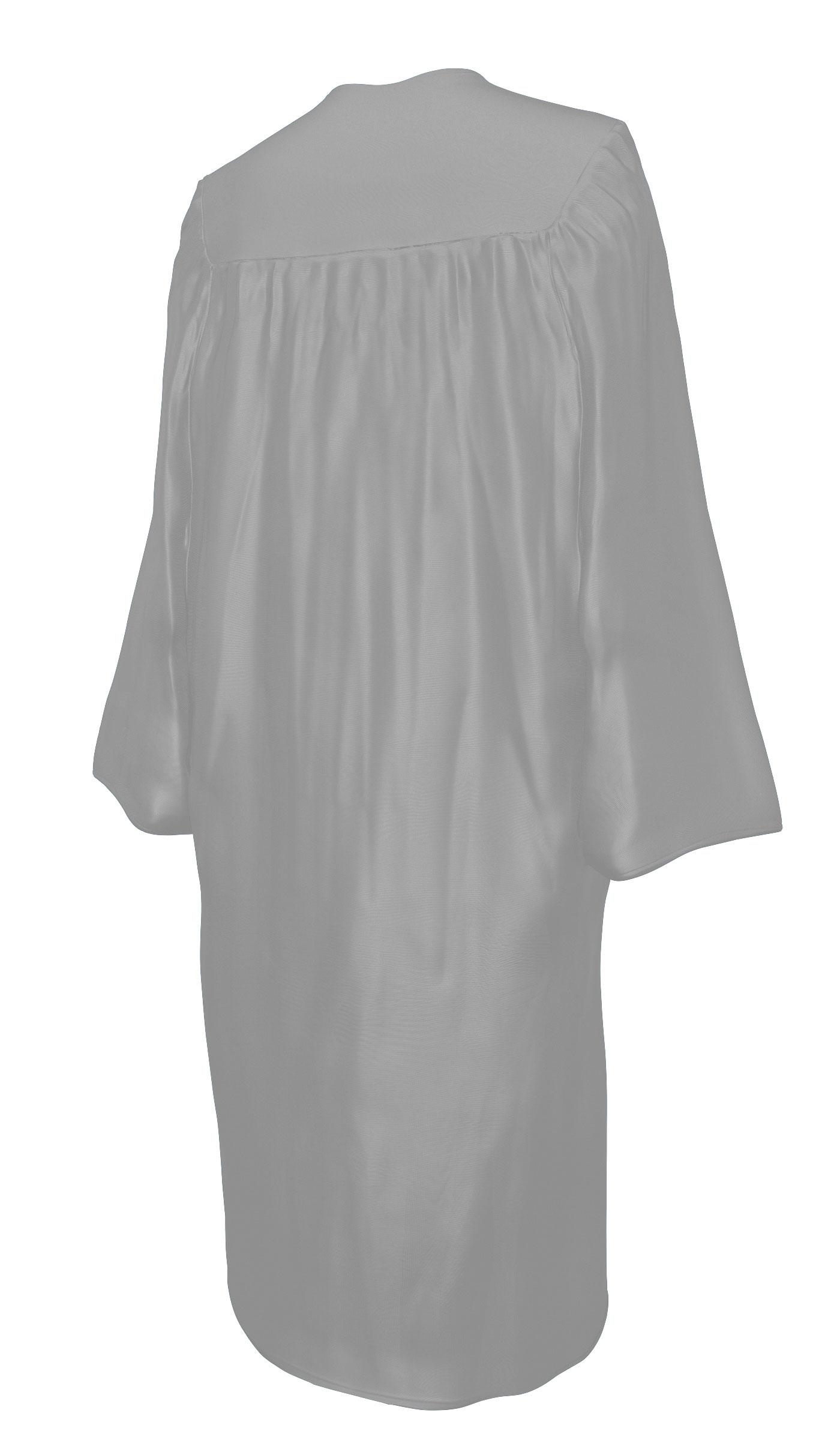 SHINY SILVER CAP & GOWN BACHELOR GRADUATION SET-rs4251465601486